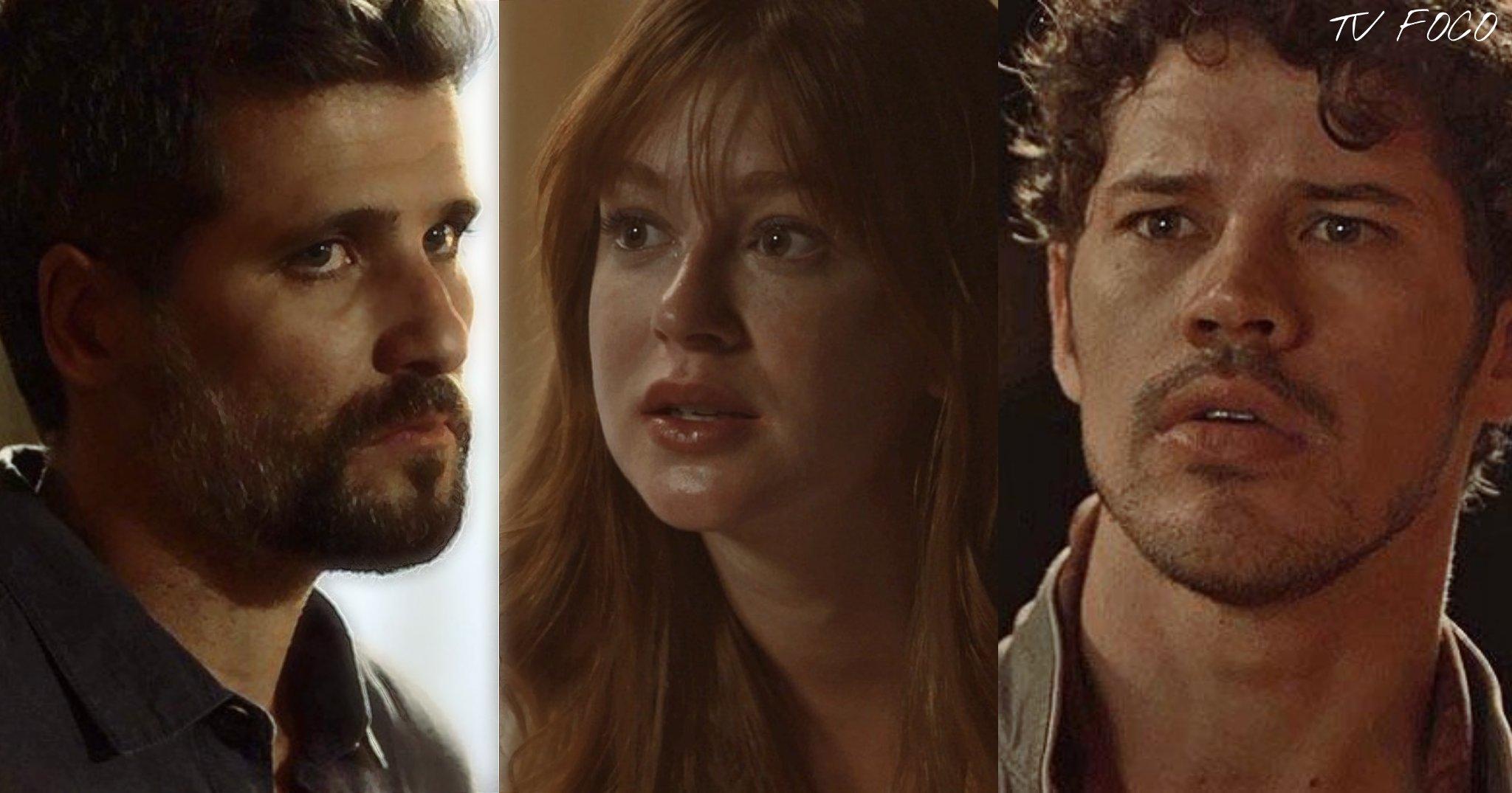 Por amor Gabriel (Bruno Gagliasso) ou Junior (José Loreto) darão a vida por Luz (Marina Ruy Barbosa) em O Sétimo Guardião