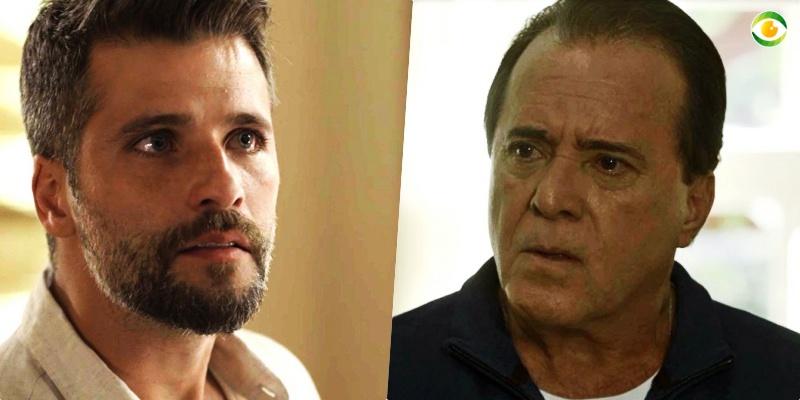 Gabriel (Bruno Gagliasso) terá embate tenso com Olavo (Tony Ramos) em O Sétimo Guardião