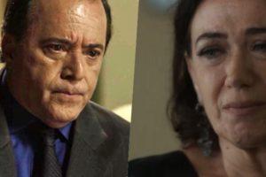 Olavo (Tony Ramos) fará Valentina (Lilia Cabral) comer o pão que o Diabo amassou em O Sétimo Guardião