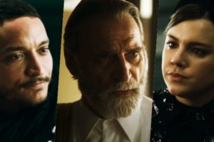 Aziz (Herson Capri), Dalila (Alice Wegmann) e Youssef (Allan de Souza Lima) em Órfãos da Terra