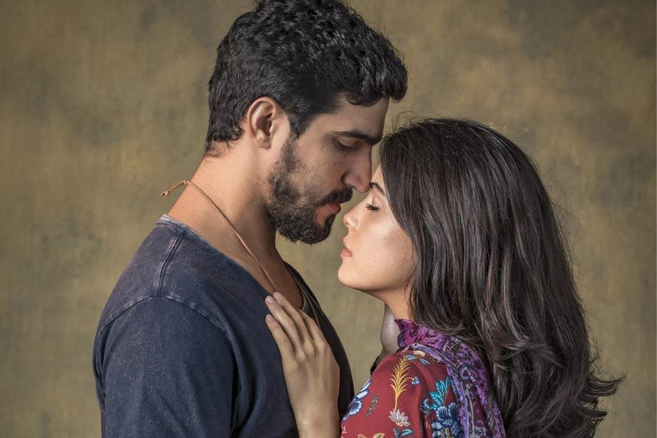 Jamil e Laila protagonistas de Órfãos da Terra (Foto: Divulgação/Globo)