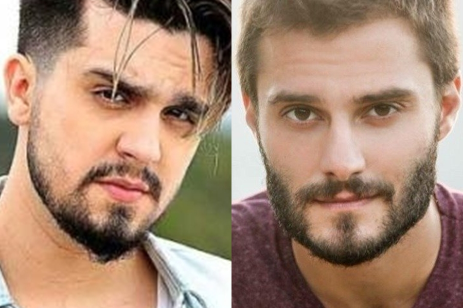 Luan Santana e Hugo Bonemer na Globo (Foto: Reprodução)
