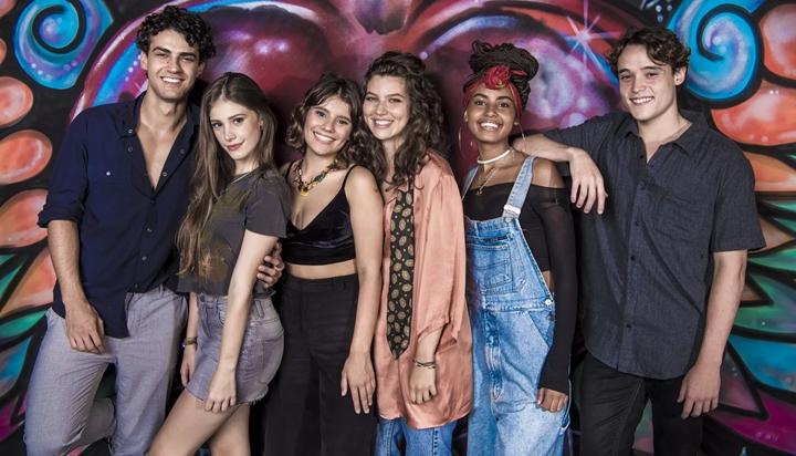 Parte do elenco jovem da nova temporada de Malhação. (Foto:  João Cotta/Globo)