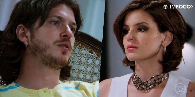 Quinzinho (Caio Paduan) se revoltará com Vanessa (Camila Queiroz) em Verão 90