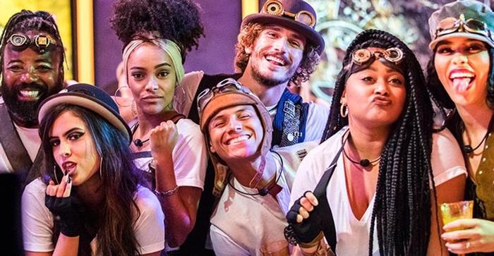 Rodrigo, Hana, Gabriela, Danrley, Alan, Rízia e Elana (Foto: Divulgação/Globo)