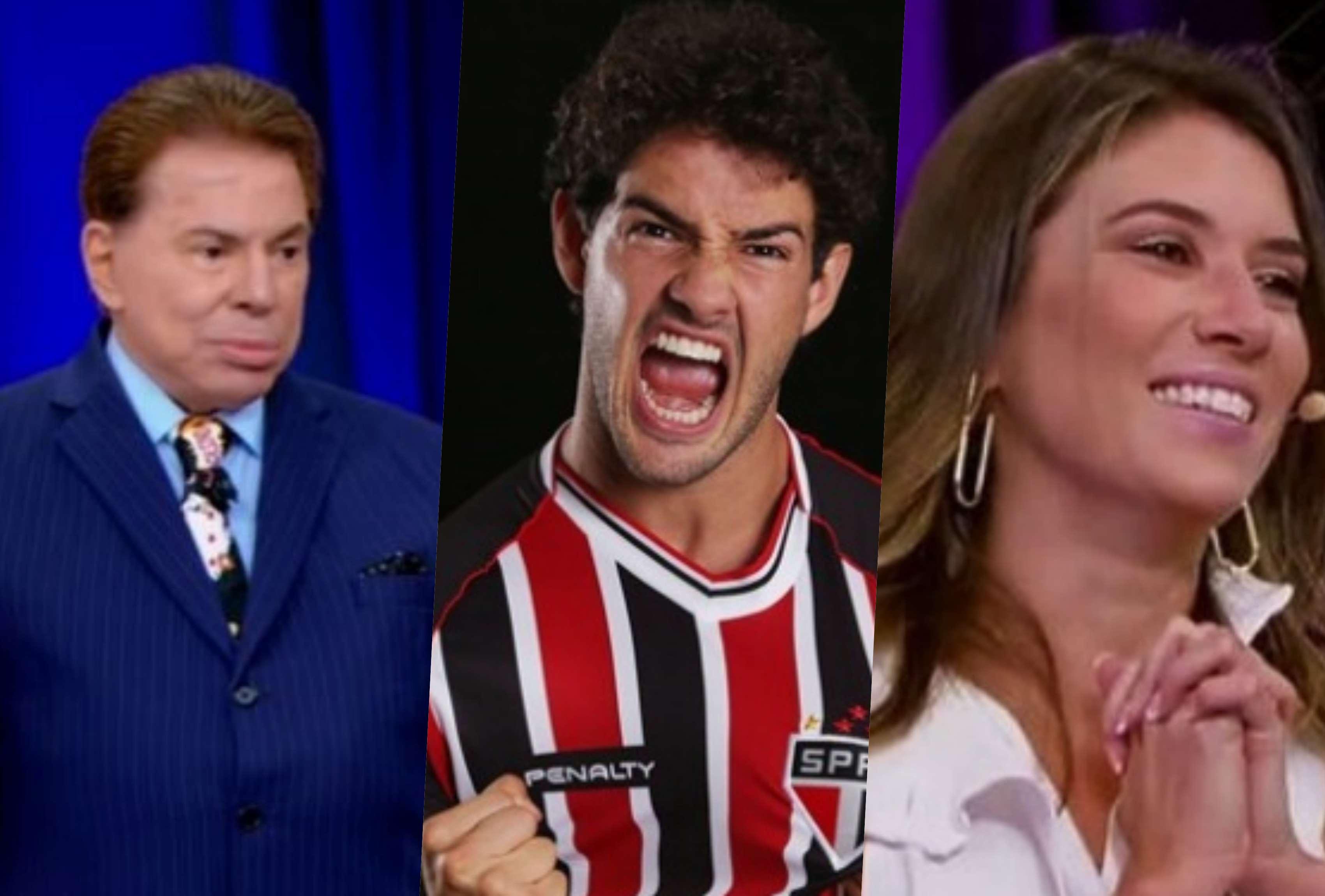 Silvio Santos convocou Alexandre Pato e Rebeca Abravanel (Foto reprodução: TV Foco)