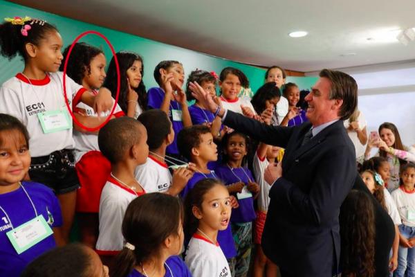 Bolsonaro teria sido ignorado por menina (Foto: Reprodução)