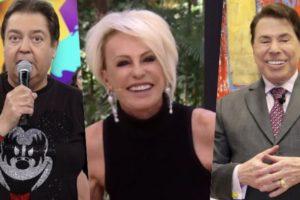 Faustão, Ana Maria Braga e Silvio Santos ícones da TV