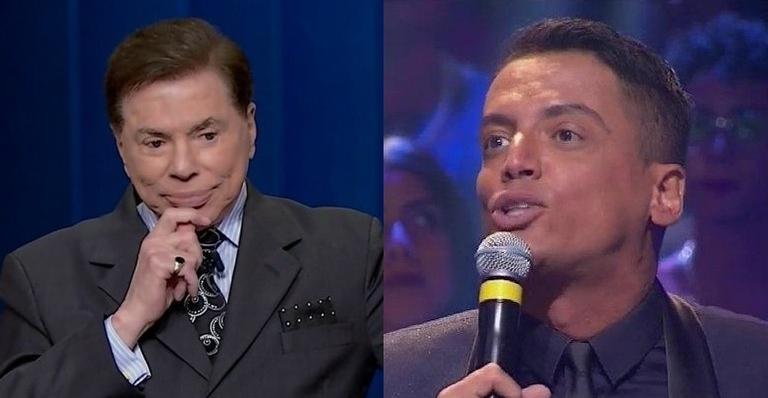 Silvio Santos e Léo Dias no Troféu Imprensa (Foto: Reprodução)