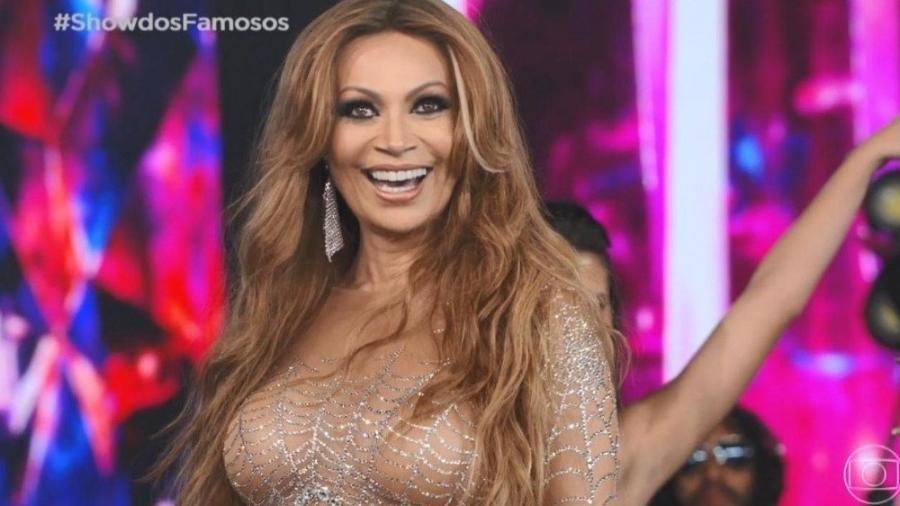 Solange Almeida no Show dos Famosos do Domingão do Faustão, na Globo (Foto: Reprodução/ Globo)