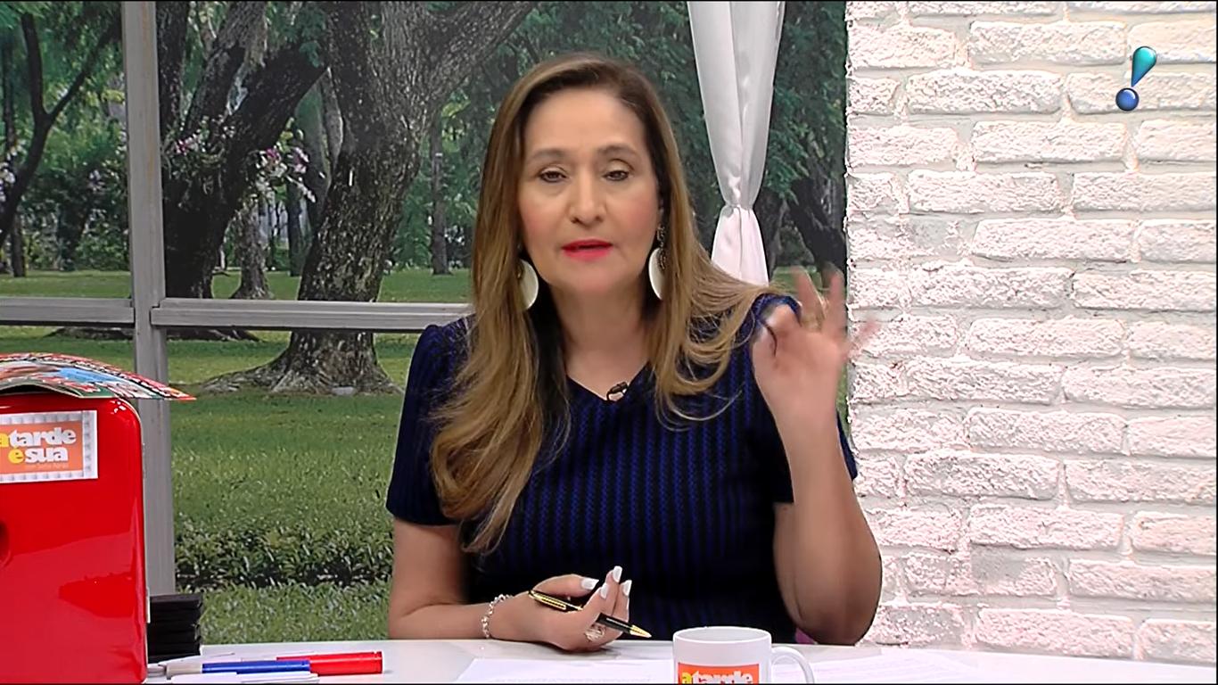 A apresentadora Sonia Abrão no programa A Tarde é Sua, na RedeTV., (Foto: Reprodução)