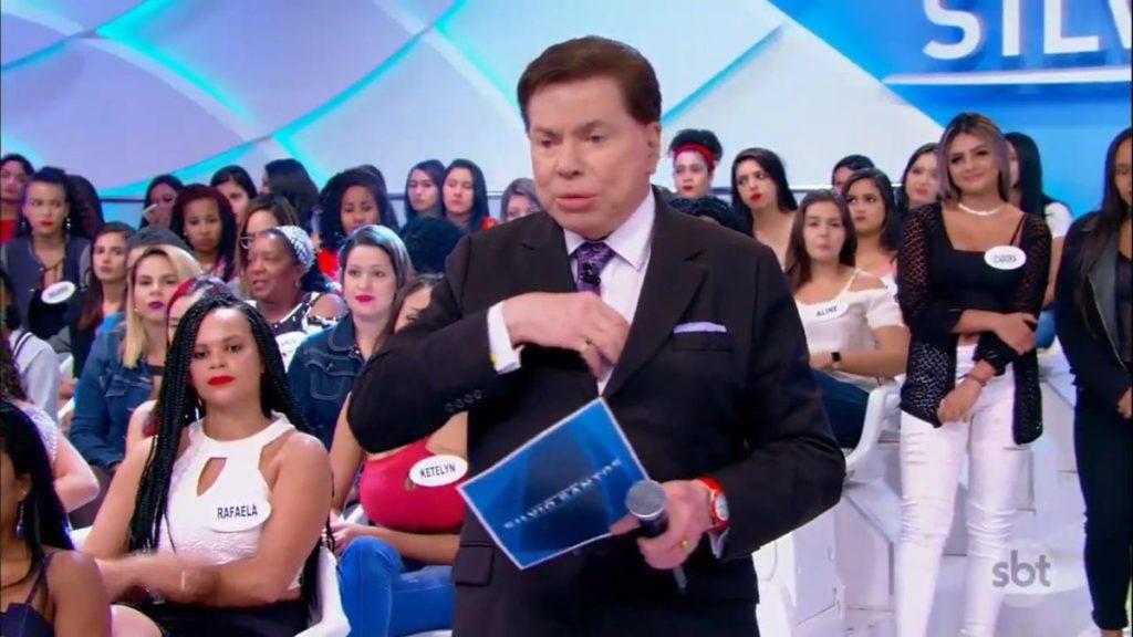 4e4a5bbabf555 Silvio Santos dá puxão de orelha em apresentadora do SBT e a proíbe de  aparecer sem maquiagem no ar
