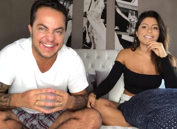 Thammy Miranda e Andressa Ferreira deram alguns detalhes íntimos (Foto: Reprodução/YouTube)