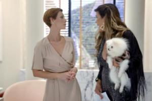 Sofia e Lara (Cristiana Oliveira) em cena da nova novela das sete da Record Topíssima
