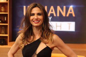 Luciana Gimenez gravou para o programa de Silvio Santos, no SBT (Foto: Divulgação)