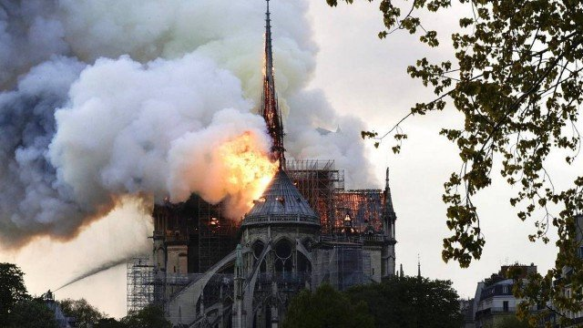 Incêndio na Catedral de Notre Dame (Foto: Divulgação)