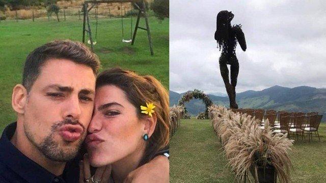 Cauã Reymond está oficialmente casado com Mariana Goldfarb (Foto: Reprodução)