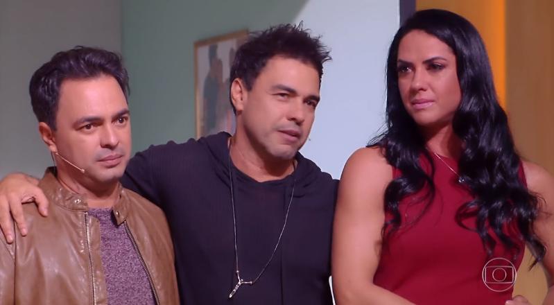 Zezé Di Camargo e Graciele Lacerda no Tamanho Família  (Foto: Reprodução/Globo)