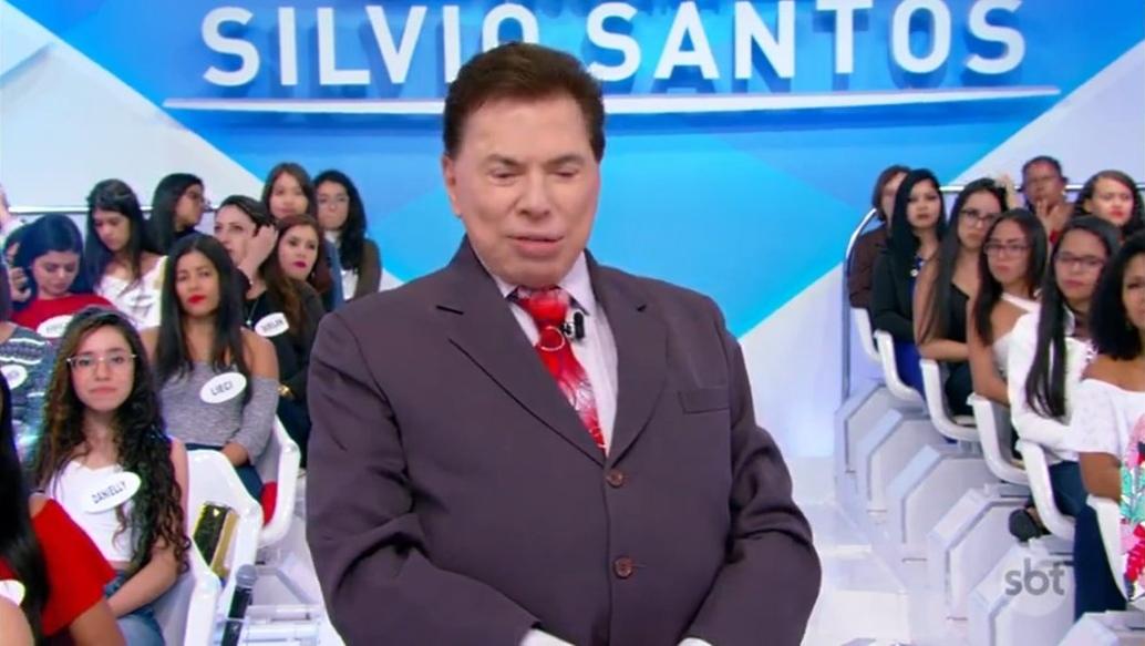 O apresentador Silvio Santos no SBT (Foto: Reprodução)