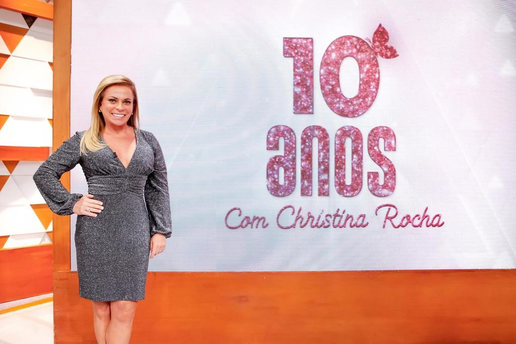 A apresentadora Christina Rocha completa 10 à frente do Casos de Família. (Foto: Gabriel Cardoso)
