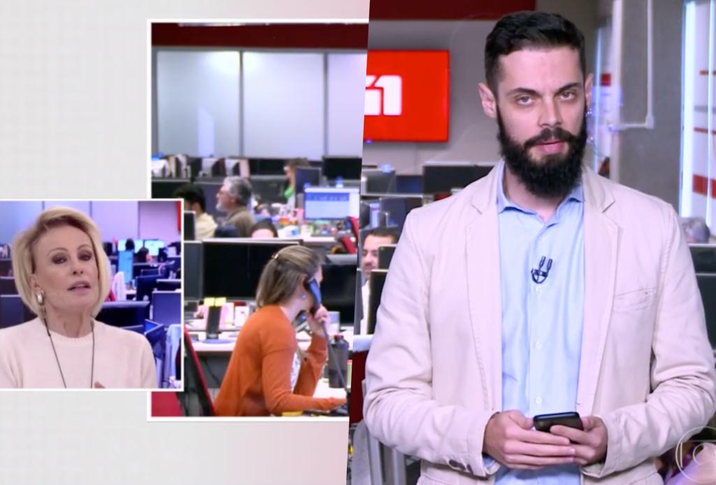 Ana Maria Braga brincou com Cauê Fabiano sobre a roupa dele no Mais Você de Ana Maria Braga da Globo