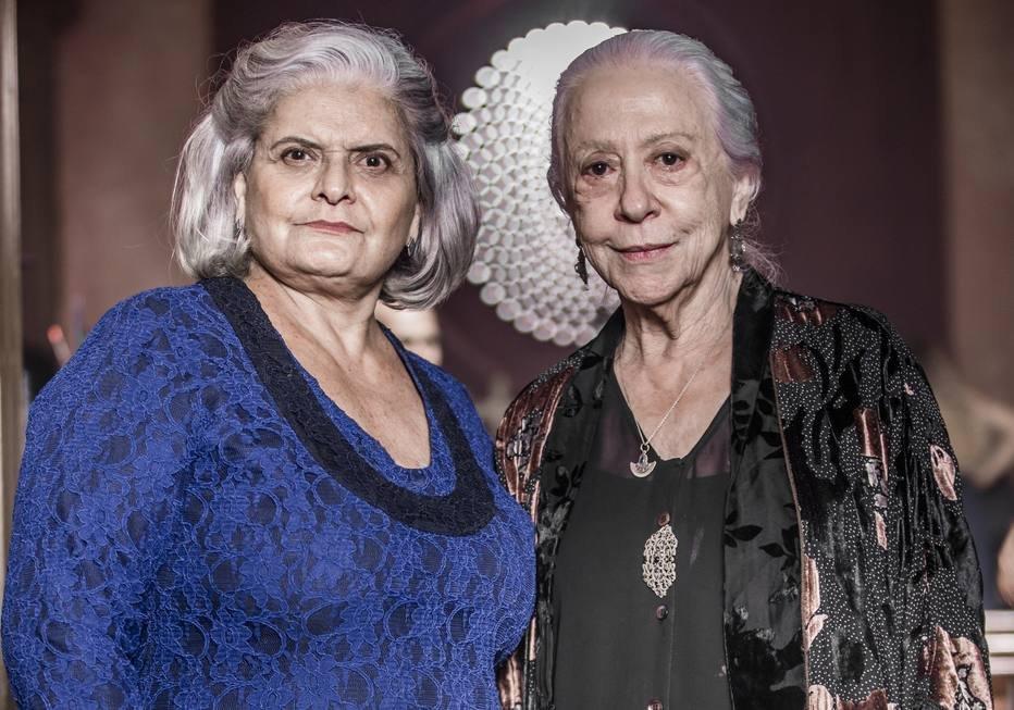 Jussara Freire e Fernanda Montenegro em A Dona do Pedaço