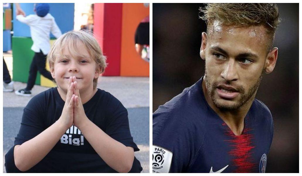 Filho de Neymar é flagrado cantando