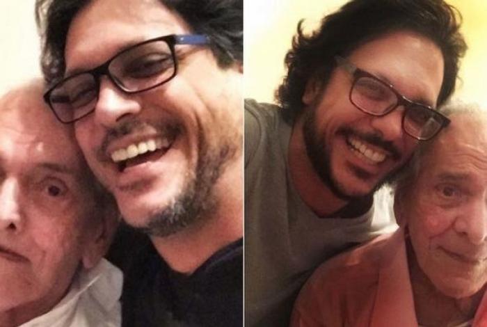 O ator Lúcio Mauro ao lado de Lúcio Mauro Filho (Foto: Reprodução)