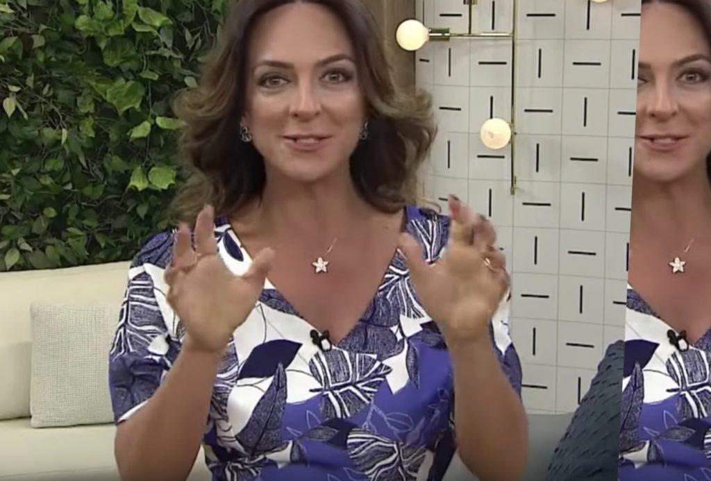 Claudia Tenório, apresentadora da Rede Vida passou mal ao vivo e teve uma experiência de quase morte