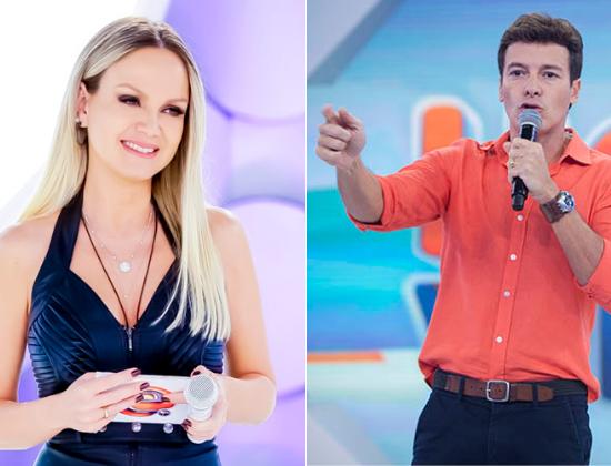 Eliana e Rodrigo Faro são concorrentes diretos nas tardes de domingo da TV brasileira (Foto: Montagem)