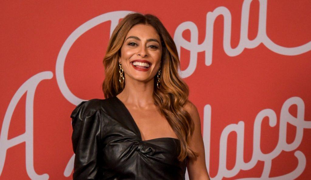 Juliana Paes na coletiva de imprensa em A Dona do Pedaço
