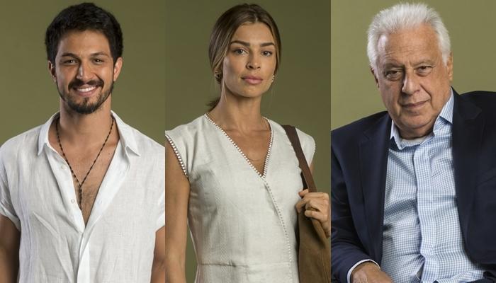 Romulo Estrela (Marcos),Grazi Massafera (Paloma) eAntonio Fagundes (Alberto) em Bom Sucesso, nova novela das sete da Globo (Foto: Globo/João Cotta)
