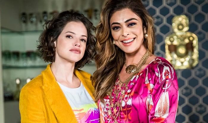 Josiane (Agatha Moreira) e Maria da Paz (Juliana Paes) em A Dona do Pedaço (Foto: Globo/João Miguel Júnior)