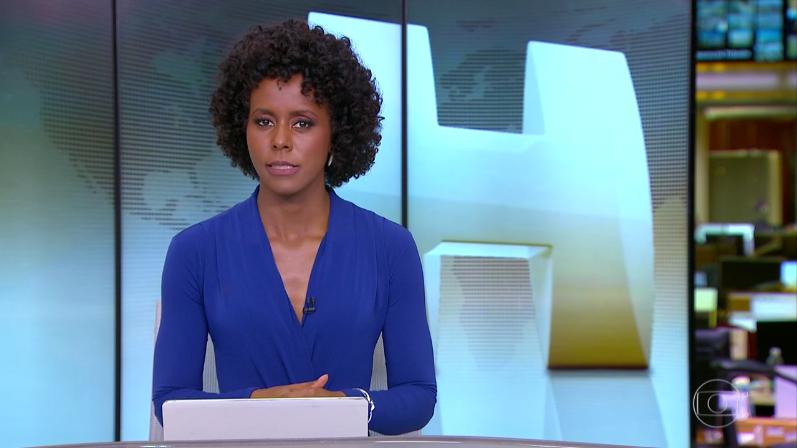 Maju Coutinho no comando do Jornal Hoje (Foto: Reprodução/Globo)
