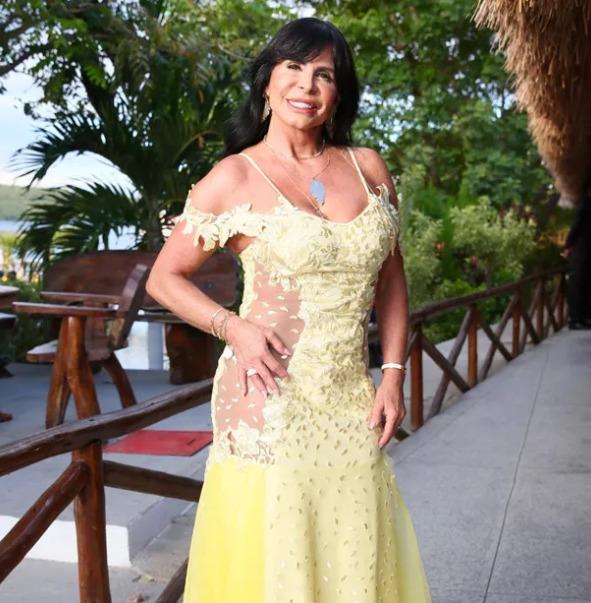 Gretchen no casamento do amigo Carlinhos Maia com Lucas Guimarães. (Foto: Reprodução)
