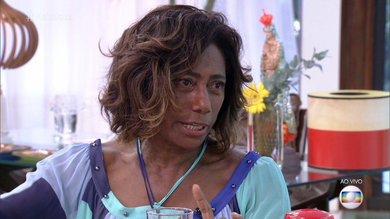 Glória Maria acabou relatando a difícil situação (Foto: Reprodução/TV Globo)