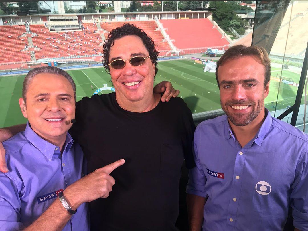 Luis Roberto, Casagrande e Roger integram o time da Globo (Foto: Reprodução/Instagram)