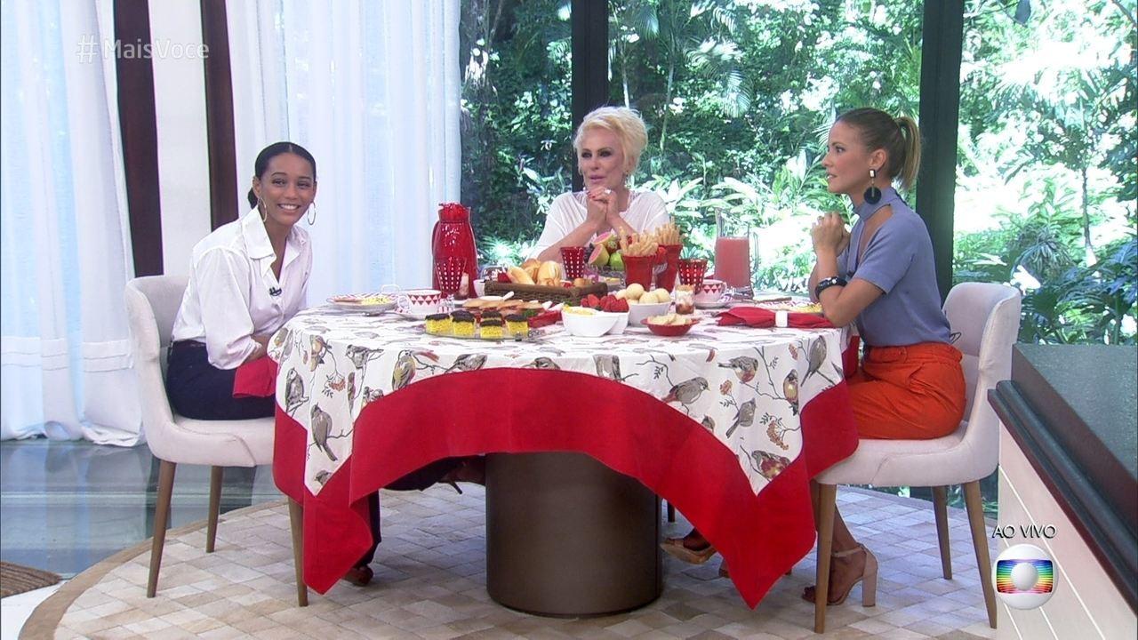 """Ana Maria Braga volta a atacar Taís Araújo no Mais Você e dispara indireta na Globo: """"não gosto quando trago convidado que não come"""" Foto: Reprodução"""