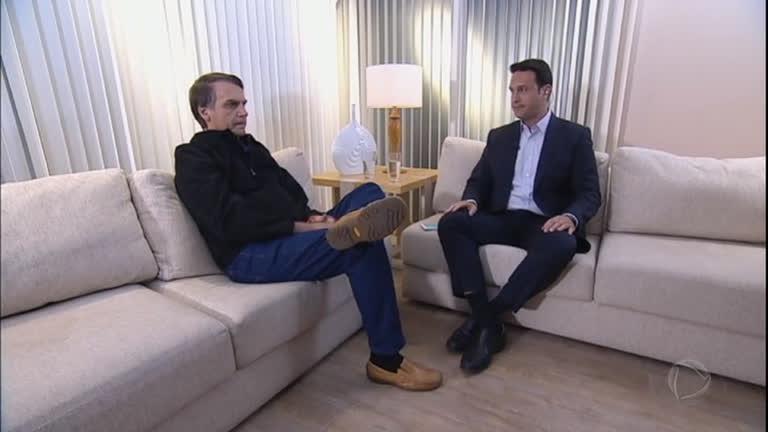O presidente Jair Bolsonaro concede constantemente entrevistas para a Record (Foto: Reprodução)