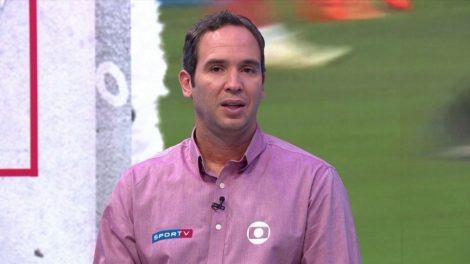 Contratado da Globo, Caio Ribeiro polemizou durante transmissão (Foto: Reprodução)