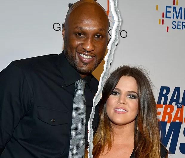 Khloé Kardashian e Lamar Odom (Foto: Getty Images) jogador