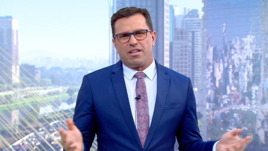 O jornalista da Globo, Rodrigo Bocardi, no Bom Dia SP (Foto: Reprodução)