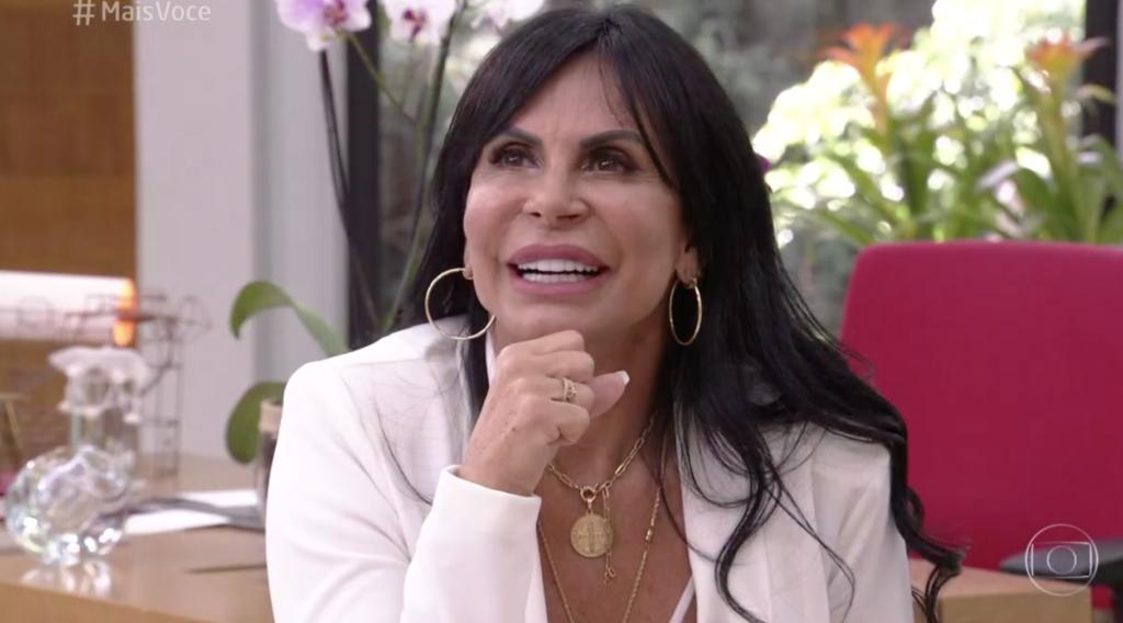 Gretchen esteve no palco do Mais Você da Globo e chamou a atenção por declarações no programa de Ana Maria Braga