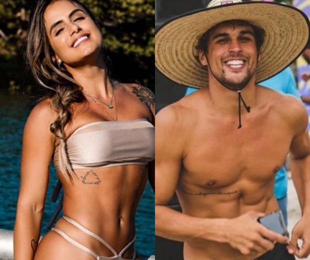 A ex-BBB, Carol Peixinho e o ator Felipe Roque (Imagem/ Instagram)