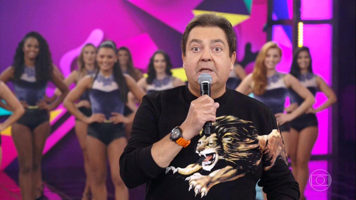 O apresentador Faustão cometeu uma grande gafe (Foto: Reprodução)