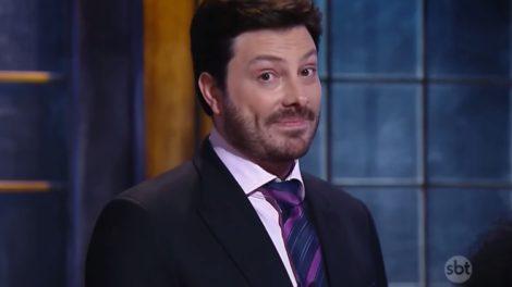 O apresentador Danilo Gentili respondeu a convidado do The Noite que pediu emprego a Silvio Santos (Foto: Divulgação)
