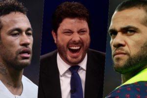 Danilo Gentili, Neymar e Daniel Alves (Foto: Montagem TV Foco/Reprodução)