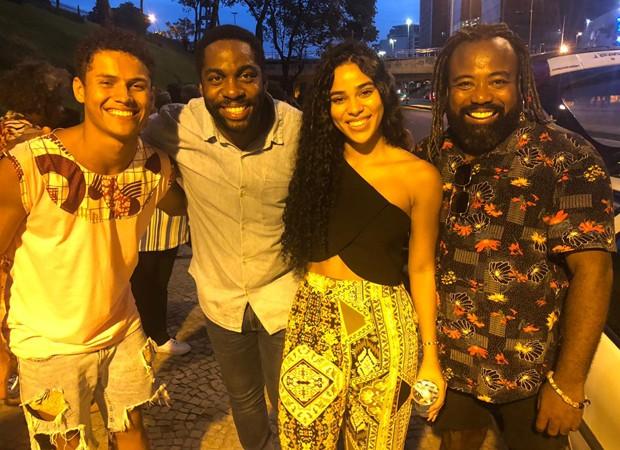 Danrley, Lázaro, Elana e Rodrigo (Foto: Adalberto Neto/Divulgação)
