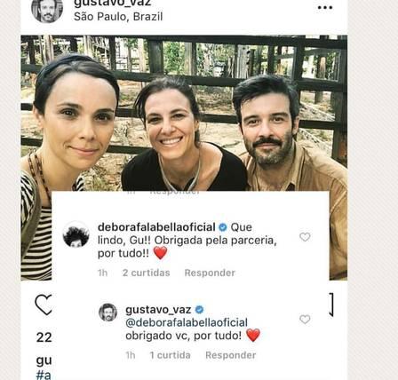 Débora Falabella, amiga e Gustavo (Foto: Instagram)