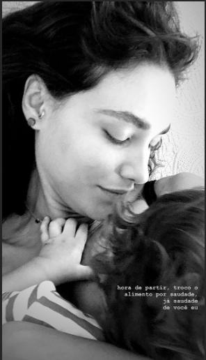 Débora Nascimento e a filha Bella